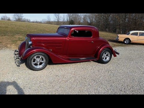$34,995 - 1934 Chevy Coupe For Sale Outlaw Body and Chassis, Killer Build!