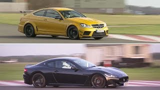 Mercedes-Benz C63 AMG vs Maserati GT Stradale | The Stig | Top Gear