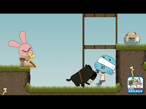 Gumball: Blind Fooled - Gumball Viciously Licked By A Dog (CN Games)