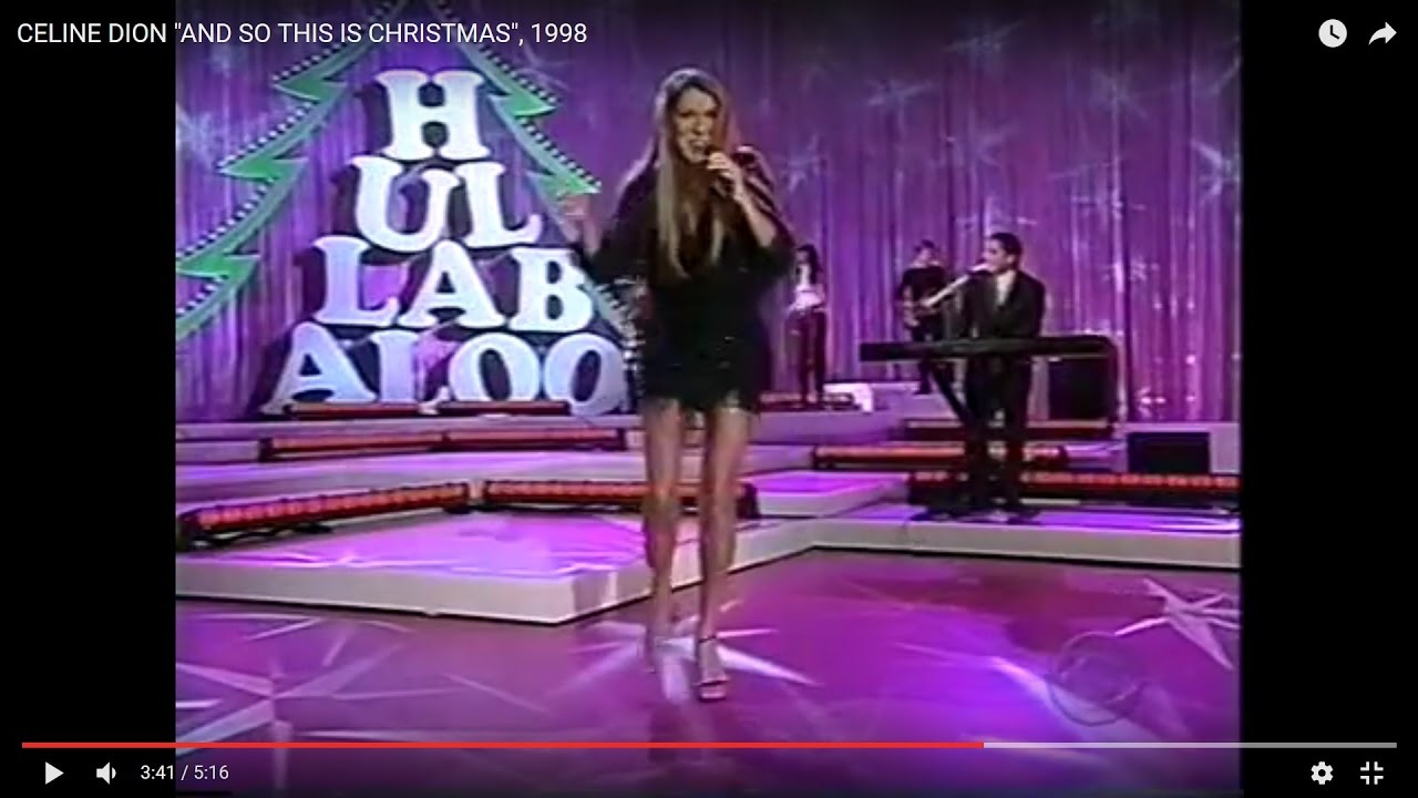 """CELINE DION """"I MET AN ANGEL ON CHRISTMAS DAY"""" (ROCKIN' SONG), 1998 186 - YouTube"""