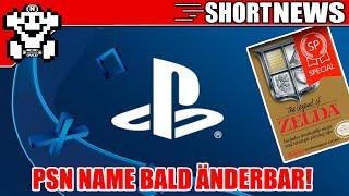 PSN Name bald änderbar! / Zelda 1 Special Edition erschienen! / PS5 mit Tablet? Short #NerdNews 334