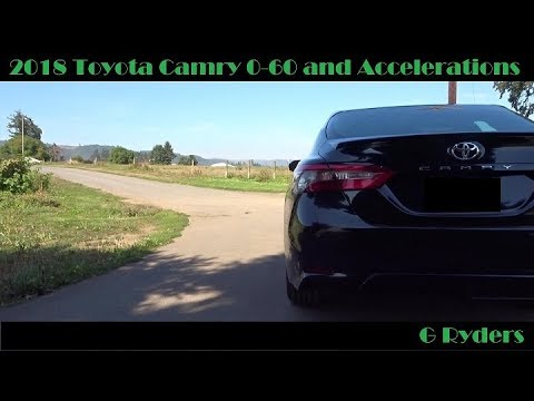 2018 Toyota Camry 2 5l 0 60 Acceleration