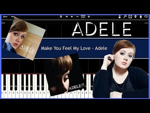 Make You Feel My Love - Adele Version (Synthesia) [Tutorial] [Instrumental Video] [Download]
