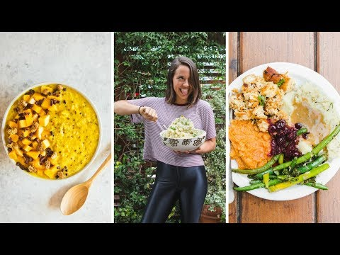 What I Eat In a Day // Vegan Options During the Holidays?