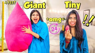 We used only GIANT & TINY products for 24 hours!! *extreme challenge* 😂