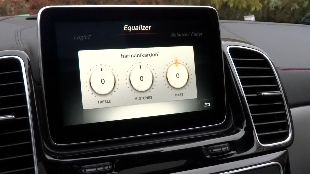 Harman Kardon Car Audio: 2015 Mercedes-Benz GLE Coupe Harman Kardon Logic7 Sound