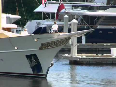 Johnny Depp's Yacht in Fort Lauderdale before the Boat Show