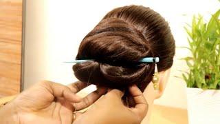 easy bun hairstyle