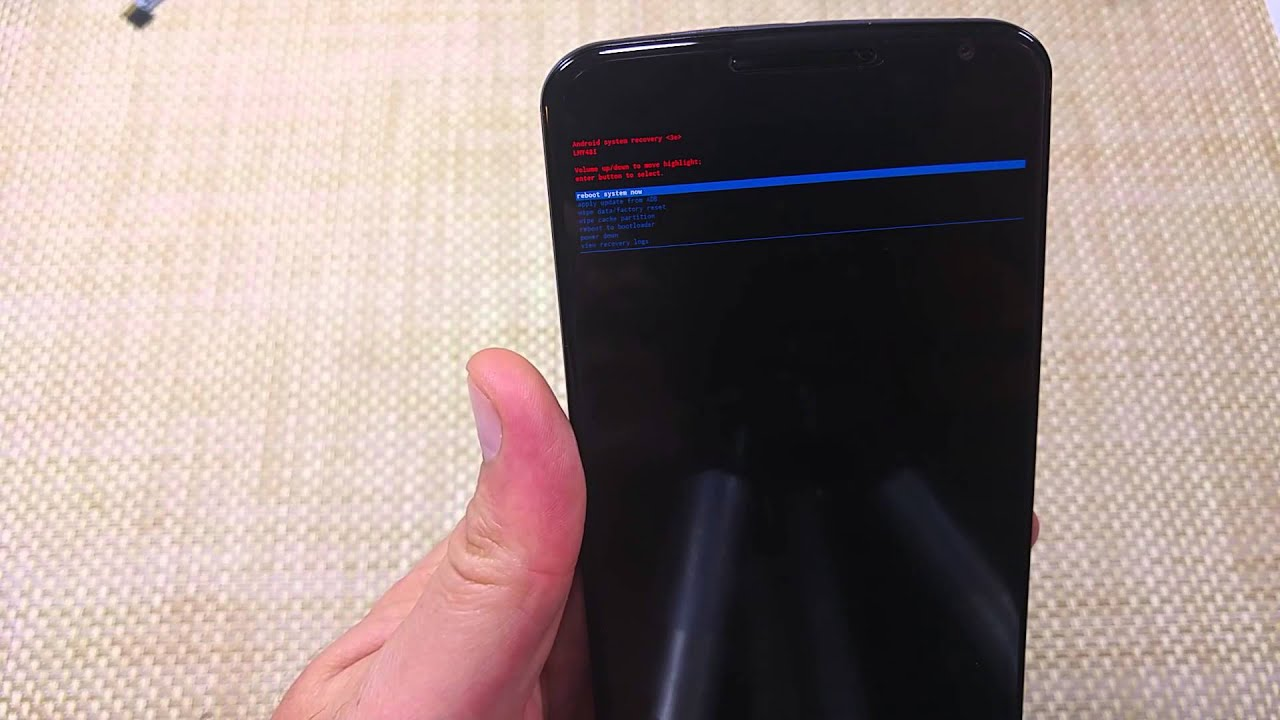 Google Nexus 6 By Motorola How To Wipe Cache Partition