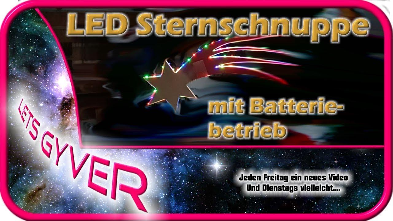 Weihnachtsbeleuchtung Led Batterie.Led Sternschnuppe Mit Batterie Betrieb Weihnachtsdeko Weihnachtsbeleuchtung