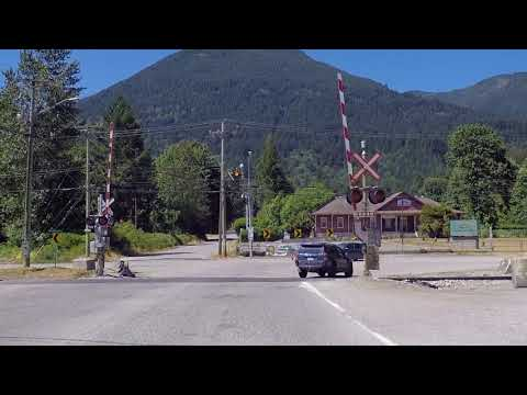 Driving in the Fraser Valley BC Canada - Route to Agassiz British Columbia - Farms