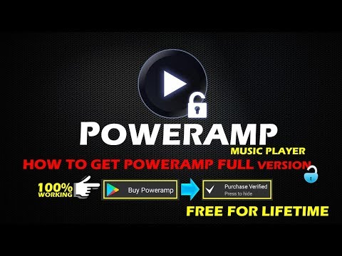Poweramp Music Player Full Version Unlocker | No Root | Lifetime For Free | Updated Tricks 2018