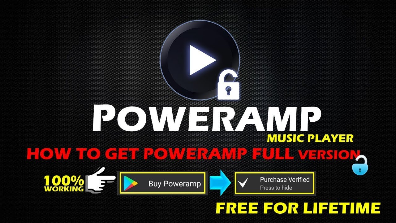 Poweramp Music Player Full Version Unlocker | No Root | Lifetime For Free |  Updated Tricks 2018