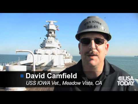 USS IOWA move from mothball fleet