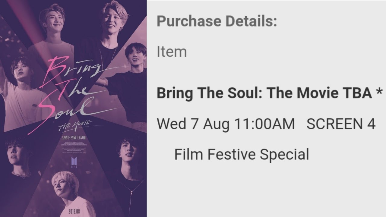 Buying Tickets For Bts Bring The Soul Movie Youtube