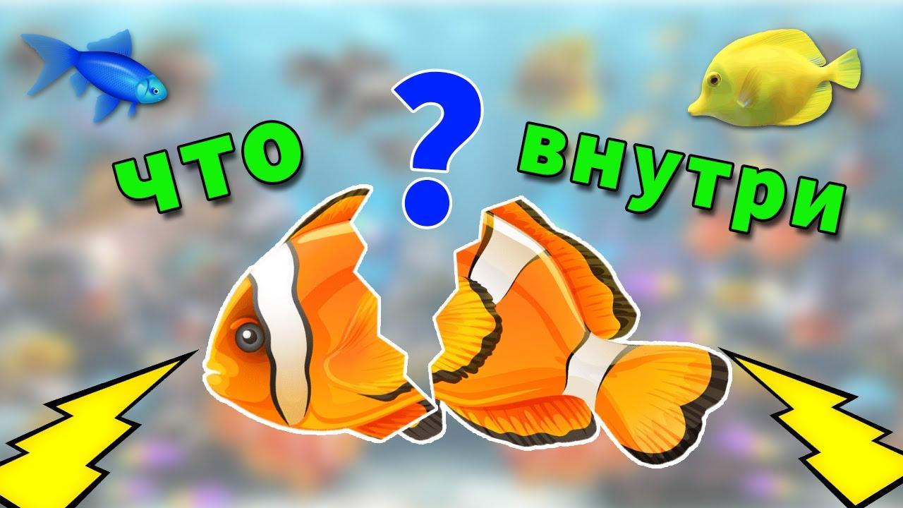 ЦВЕТНЫЕ рыбки с фигурами внутри - учим ЦВЕТА и ФИГУРЫ в подводном мире мультфильм для детей
