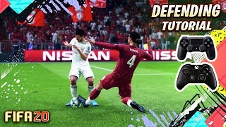 FIFA 20 DEFENDING TUTORIAL / How to defend effectively - BEST Way To TACKLE, JOCKEY & CONTAIN