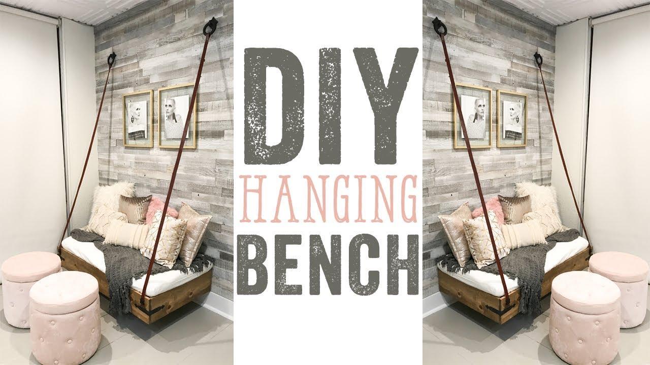 DIY Faux Hanging Bench - YouTube