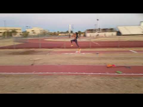 Jasmine Todd Working on Long jump positions