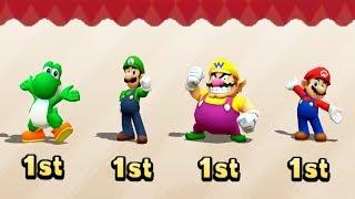 Mario Party The Top 100 All Funny Minigames #6 - Yoshi Vs Luigi Vs Wario Vs Mario (Master Cpu)