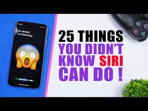 25 Things You Didn't Know SIRI Can Do (Siri Tips & Tricks)
