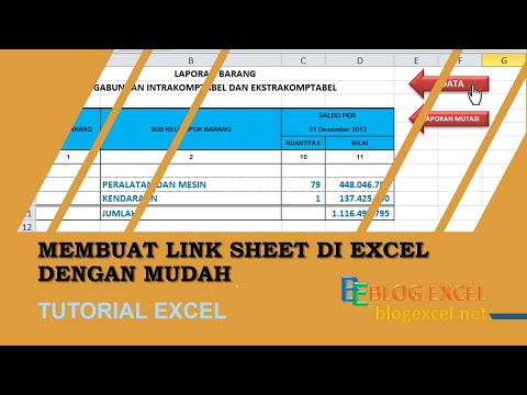 Cara Mudah Membuat Link Sheet di Excel