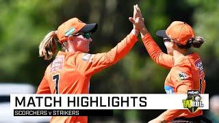 Scorchers snatch final ball victory over Strikers | Rebel WBBL|05