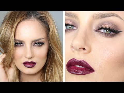 Sexy Burgundy Date Night Or Party Makeup (great For Light Eyes!) - YouTube