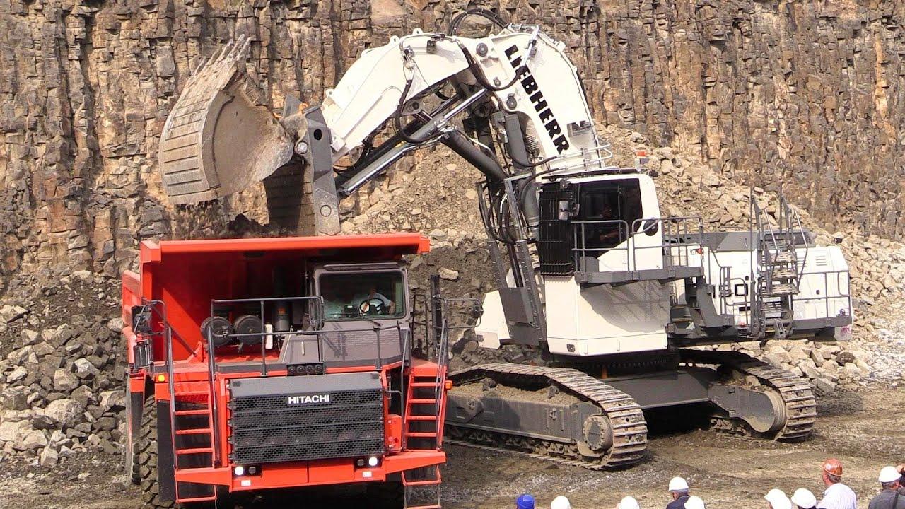 Liebherr R9150 Mining Excavator And Hitachi EH1100-5