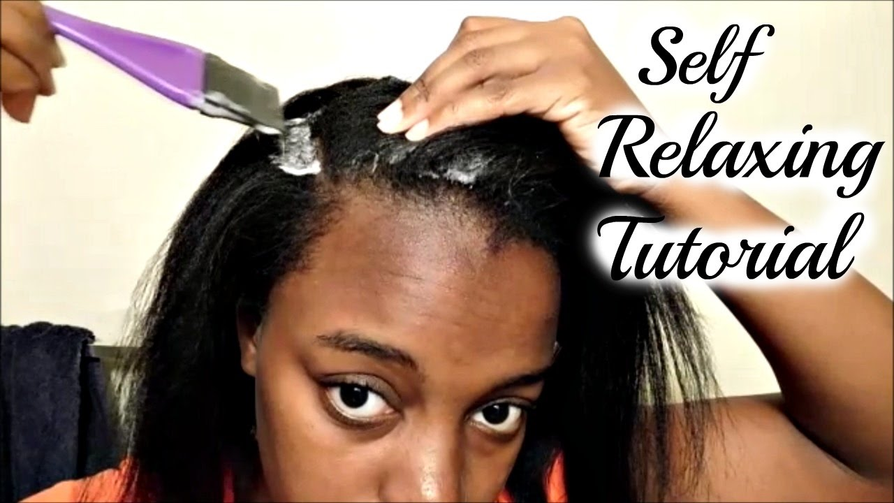 How To Apply A Relaxer At Home | Self Relax Tutorial