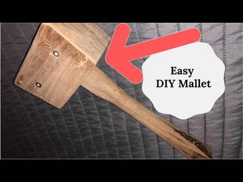 Woodworking projects: How to make an easy DIY wooden mallet