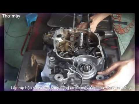 Lắp ráp hộp số và trục cơ động cơ xe máy Yamaha_ Toàn An đồng (P2)