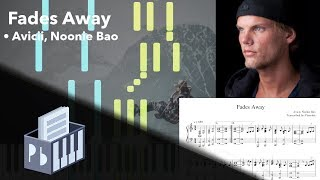 Fades Away - Avicii, Noonie Bao (Piano Tutorial)