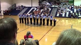 Hartland H.S. Varsity Pom Spirit Shine  Kickline 2015 001