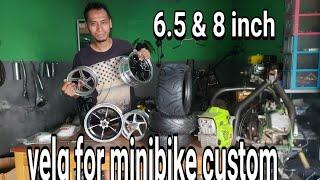 unboxing velg 6.5 & 8in buat mtr custom minibike
