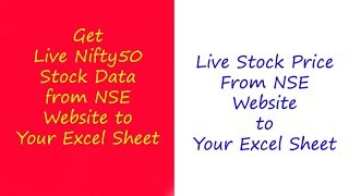 NSE Live Data to Excel Part 1 | Nifty50 Stocks