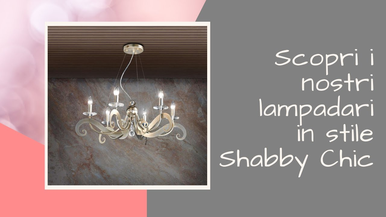 Lampadario Camera Da Letto Fai Da Te : Scopri i nostri lampadari in stile shabby chic youtube
