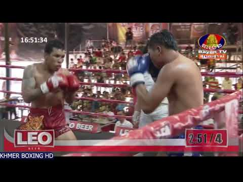 ពេជ្រ សីហា vs ថៃ - Pich Seyha Vs Kongnarung (Thai), Leobeer Boxing, Bayon Boxing 18 February 2018