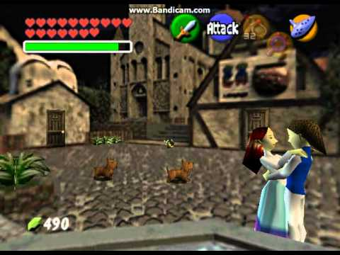 Ocarina Of Time 100 Walkthrough Part 69 Cheating In The Treasure Chest Game Youtube