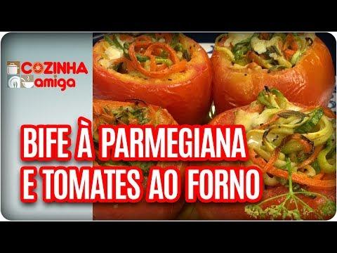 Bife à Parmegiana Recheado Com Tomates Ao Forno - Michelle Francine   Cozinha Amiga (15/12/17)