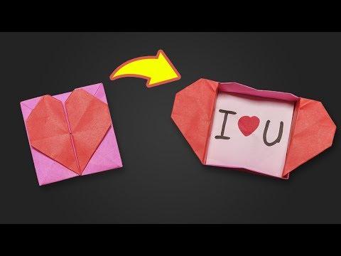 Easy Origami for kids Heart Box & Envelope