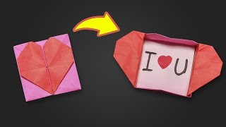 Easy Origami for kids Heart Box & Envelope