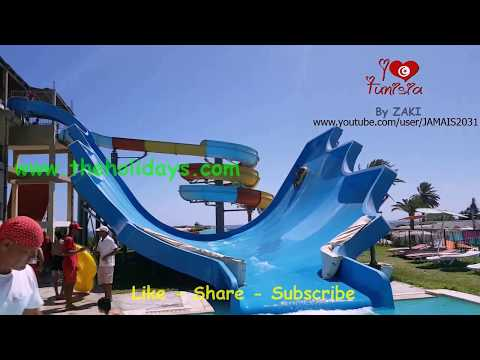 Le plus grand toboggan 2017 AQUASPLASH à Thalassa Sousse en TUNISIE أكبر مدينة ملاهي و مياه في تونس