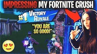 Impressing my CRUSH by using a $5,000 RARE Fortnite Account... (Recon Expert)