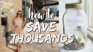 HOW TO SAVE  UP THOUSANDS | money-saving tips for college