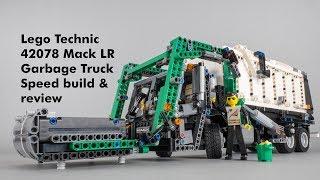 Лего Технік 42078 Мак ЛР сміттєвоз (модель B) швидкість побудови та відкликання з Trashcam ділянки