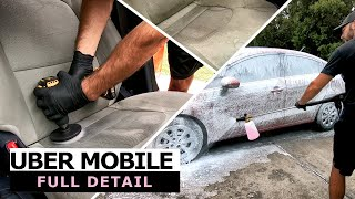Deep Cleaning my Uber Drivers Car! Complete Interior Exterior Detailing