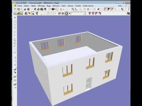 Dessiner une maison avec architecte 3d youtube for Tuto architecte 3d