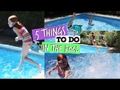 5 Fun Things to do in the Pool   EASY SUMMER DIY