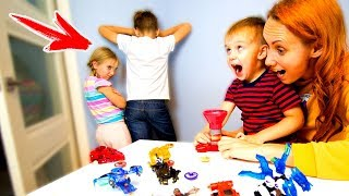 Дети НАКАЗАНЫ? Мама Придумала Как Их ПРОУЧИТЬ! ЧЕЛЛЕНДЖ Дикие Скричеры Игрушки для детей